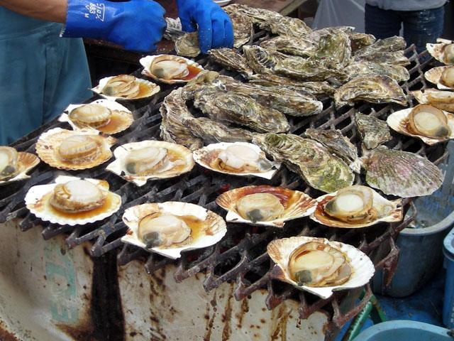 焼き牡蠣・やき帆立貝