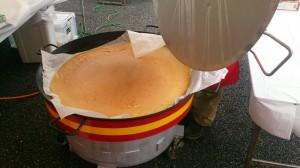 特製味淋(みりん)シロップでいただく 巨大パンケーキ in流山